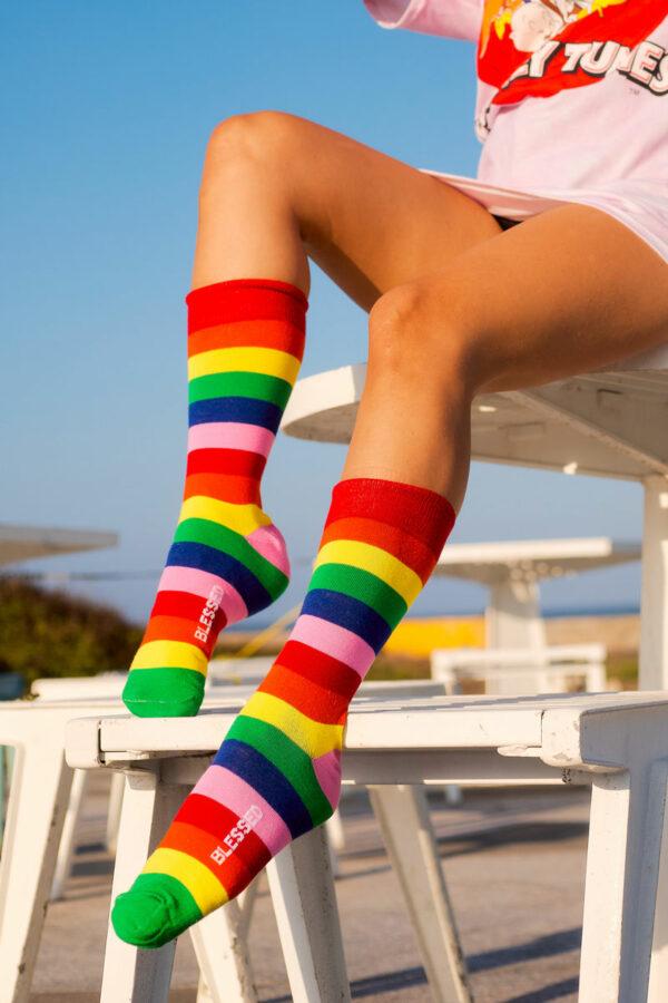 calcetines de arcoiris