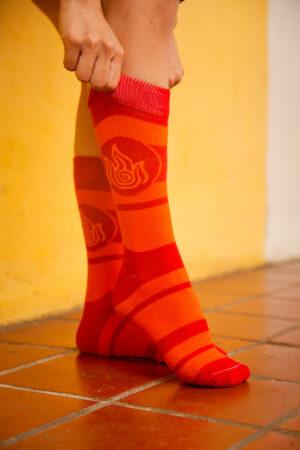 calcetines nacion del fuego avatar la leyenda de aang