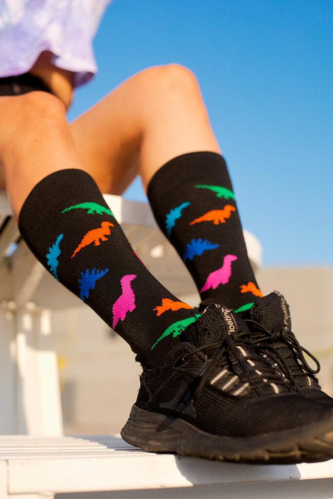 calcetines de dinosaurio