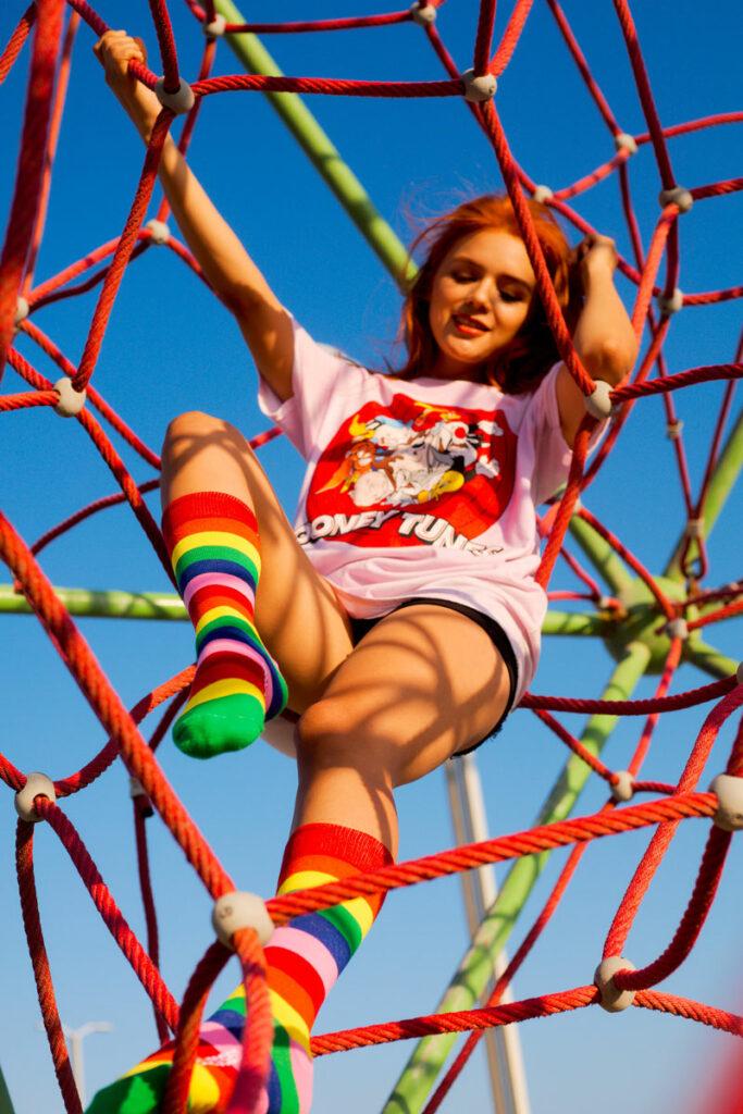 calcetines rayas de colores