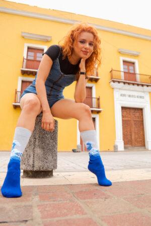 calcetines obra de arte la gran ola de kanagawa