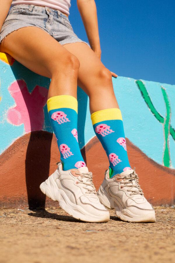 calcetines de medusas