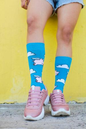 calcetines cerdos voladores