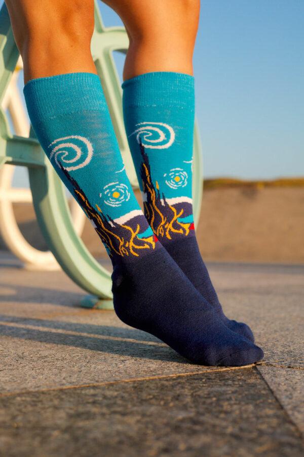 calcetines la noche estrellada