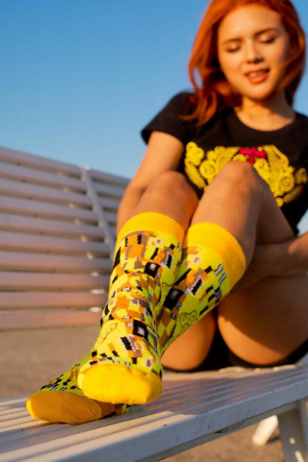 calcetines obra de arte el beso