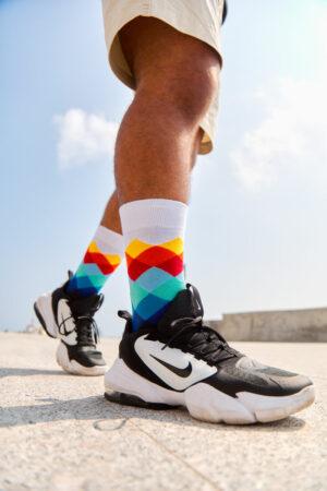 calcetines diamantes coloridos