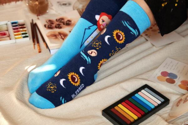 calcetines arte van gogh