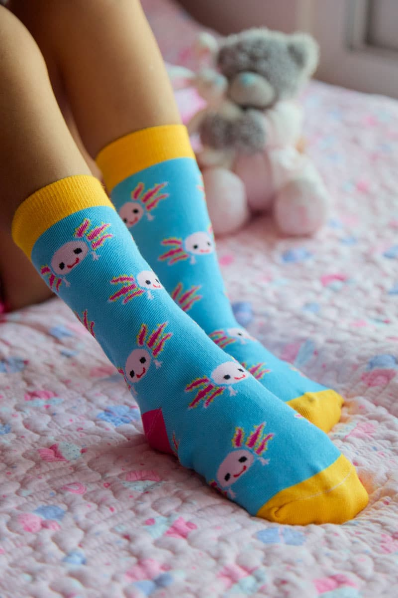 calcetines de ajolotes