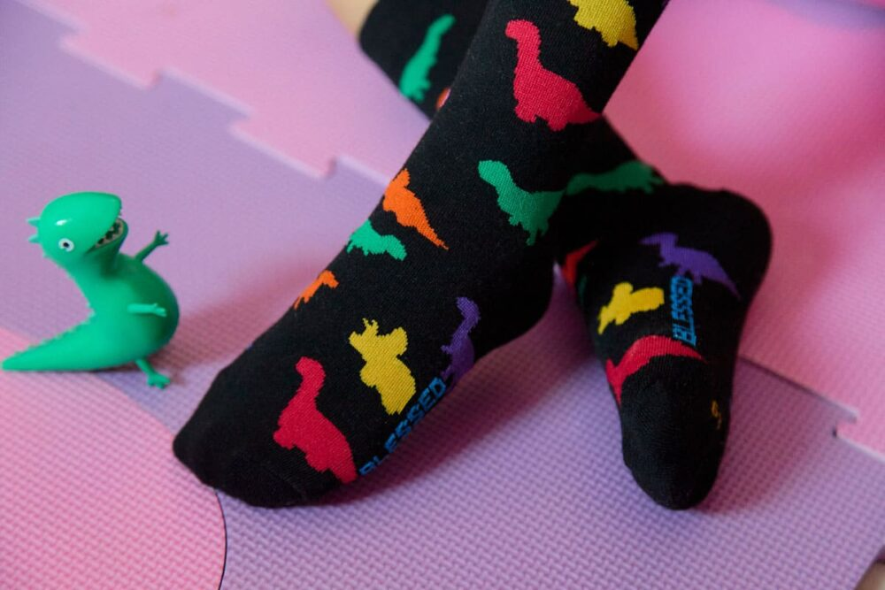 calcetines de dinosaurios
