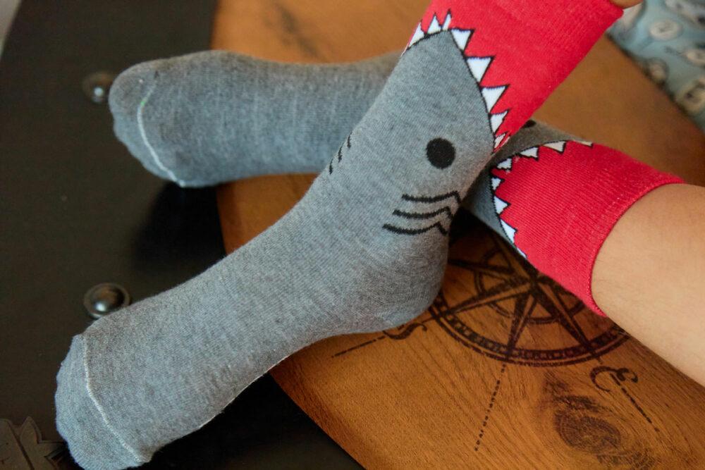 calcetines de tiburón